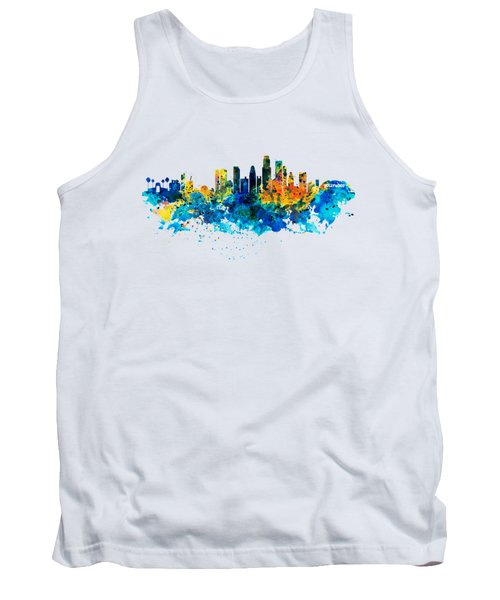 Los Angeles Skyline Tank Top by Marian Voicu