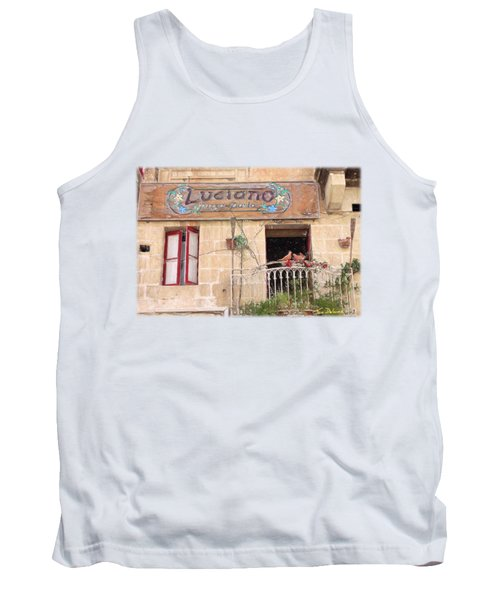 Luciano's Pizza Tank Top by Jon Delorme