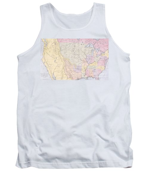 Map Showing The Localities Of The Indian Tribes Of The Us In 1833 Tank Top by Thomas L McKenney and James Hall