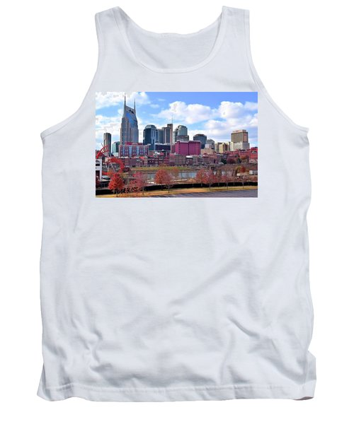 Nashville On The Riverfront Tank Top by Frozen in Time Fine Art Photography