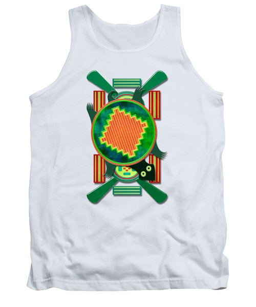 Native American 3d Turtle Motif Tank Top by Sharon and Renee Lozen