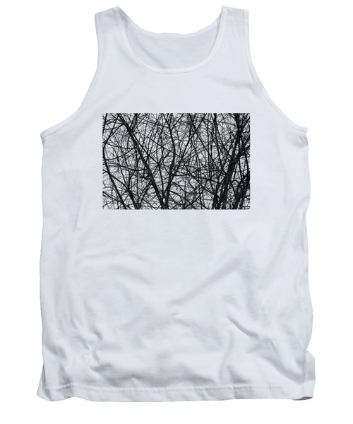 Natural Trees Map Tank Top by Konstantin Sevostyanov