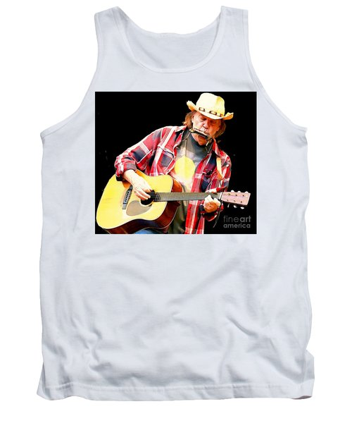 Neil Young Tank Top by John Malone