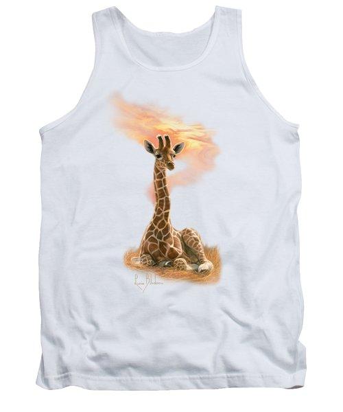 Newborn Giraffe Tank Top by Lucie Bilodeau