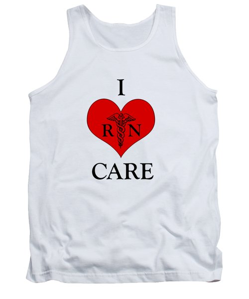 Nursing I Care -  Red Tank Top by Mark Kiver