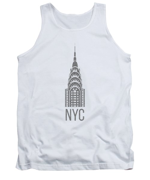 Nyc New York City Graphic Tank Top by Edward Fielding
