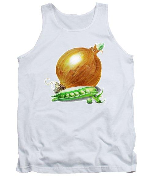 Onion And Peas Tank Top by Irina Sztukowski