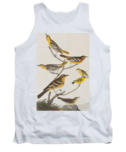 Orioles Thrushes And Goldfinches Tank Top by John James Audubon