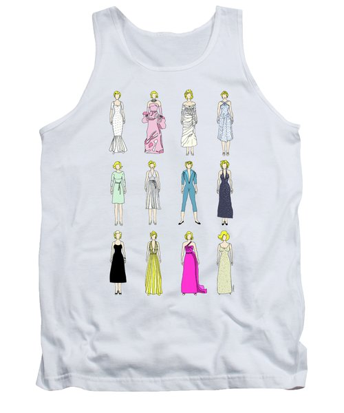Outfits Of Marilyn Fashion Tank Top by Notsniw Art