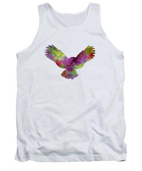 Owl 02 In Watercolor Tank Top by Pablo Romero