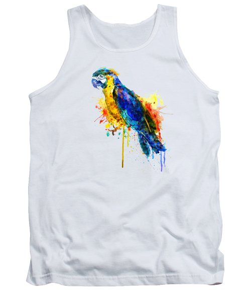 Parrot Watercolor  Tank Top by Marian Voicu