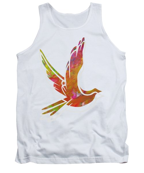 Part Of Peace Dove Tank Top by Priscilla Wolfe
