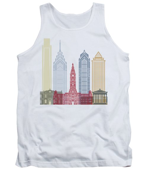 Philadelphia Skyline Poster Tank Top by Pablo Romero