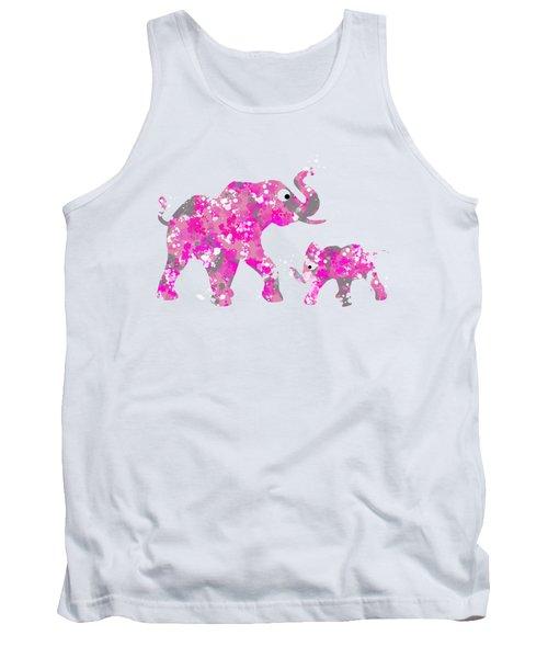 Pink Elephants Tank Top by Christina Rollo