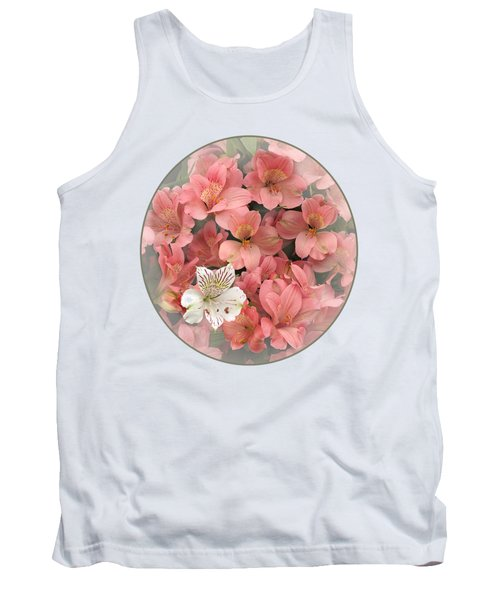 Prima Donna - Alstroemeria Tank Top by Gill Billington