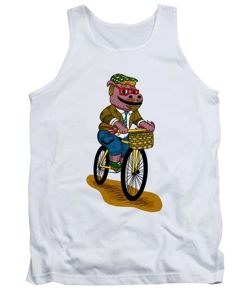 Pun Intended - Hipsterpotamus - Hipsters- Funny Design Tank Top by Paul Telling