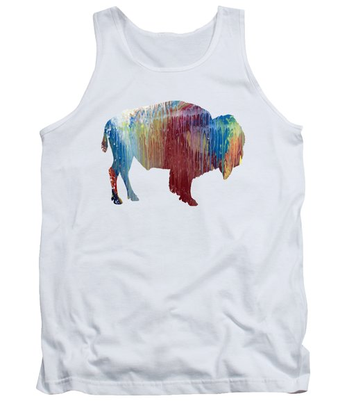 Red Bison Tank Top by Mordax Furittus