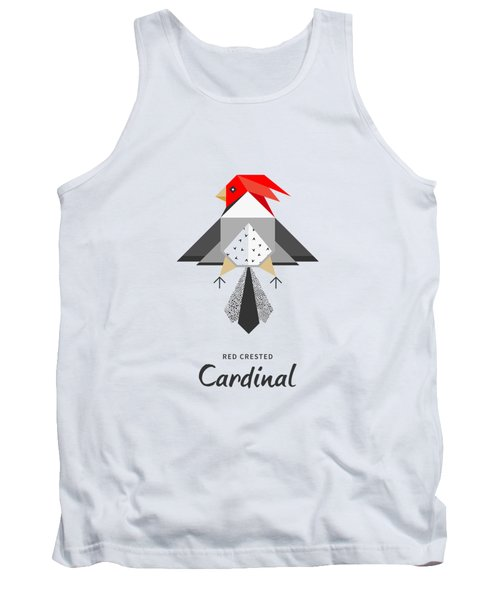 Red-crested Cardinal Minimalist Tank Top by Bekare Creative
