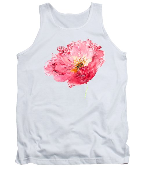 Red Poppy Painting Tank Top by Jan Matson