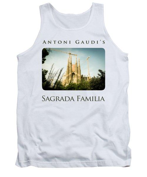 Sagrada Familia With Catalonia's Flag Tank Top by Alejandro Ascanio