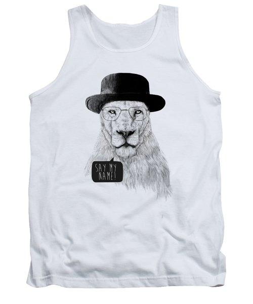 Say My Name Tank Top by Balazs Solti