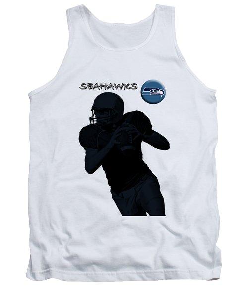 Seattle Seahawks Football Tank Top by David Dehner