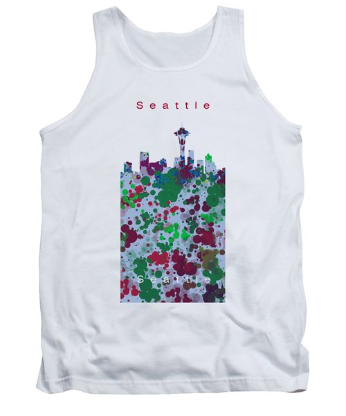 Seattle Skyline .3 Tank Top by Alberto RuiZ