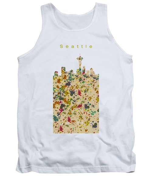 Seattle Skyline.2 Tank Top by Alberto RuiZ