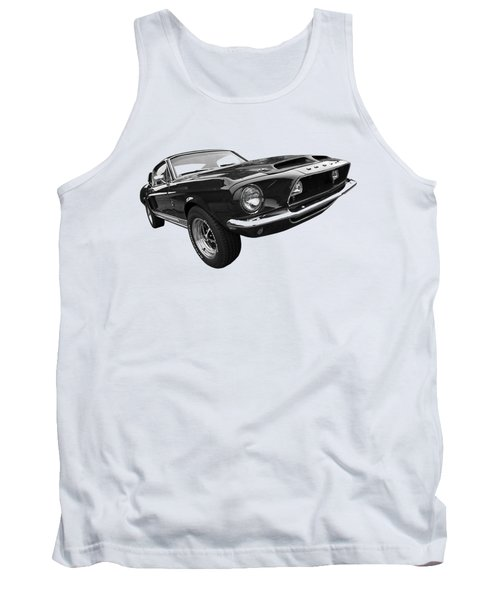 Shelby Gt500kr 1968 In Black And White Tank Top by Gill Billington