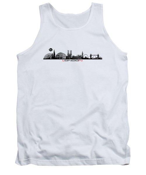 skyline city London black Tank Top by Justyna JBJart