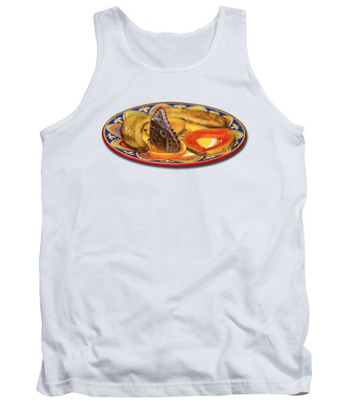 Snacking Butterfly Tank Top by Bob Slitzan