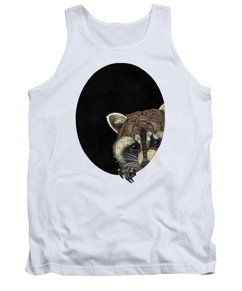 Socially Anxious Raccoon Tank Top by ZH Field