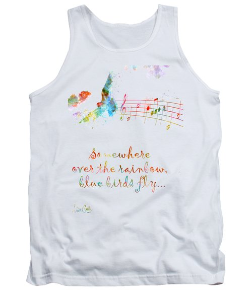 Somewhere Over The Rainbow Tank Top by Nikki Smith