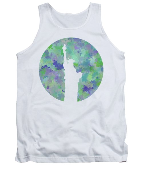 Statue Of Liberty Silhouette Tank Top by Phil Perkins