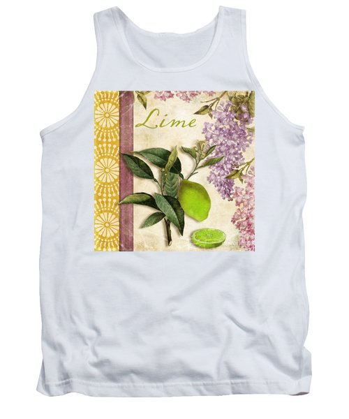 Summer Citrus Lime Tank Top by Mindy Sommers