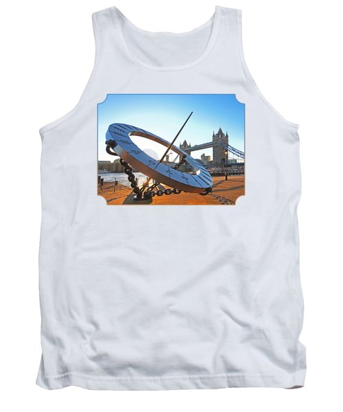 Sun Dial And Tower Bridge London Tank Top by Gill Billington