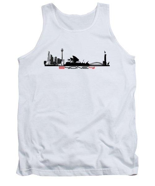 Sydney Skyline Black Tank Top by Justyna JBJart