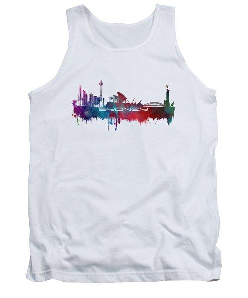 Sydney Skyline City Blue Tank Top by Justyna JBJart