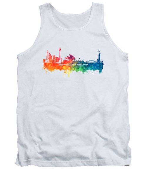 Sydney Skyline City Color Tank Top by Justyna JBJart