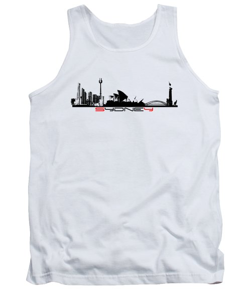 Sydney Skyline Tank Top by Justyna JBJart