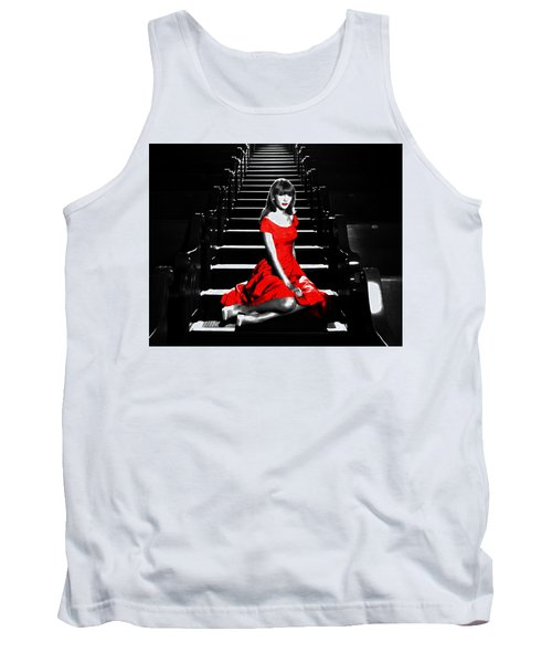 Taylor Swift 8c Tank Top by Brian Reaves