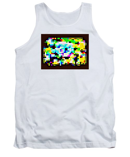 Techno Rainbow Tank Top by Andy Rhodes