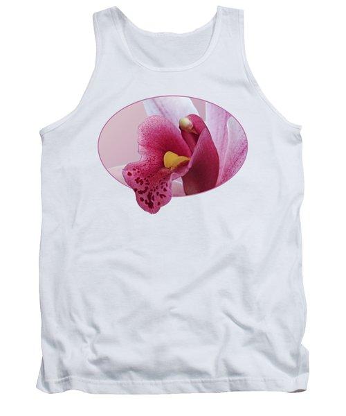 Temptation - Pink Cymbidium Orchid Tank Top by Gill Billington