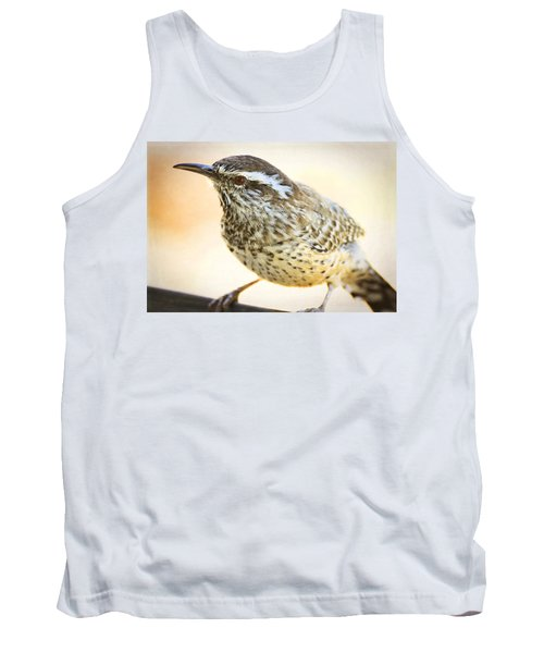 The Cactus Wren  Tank Top by Saija  Lehtonen