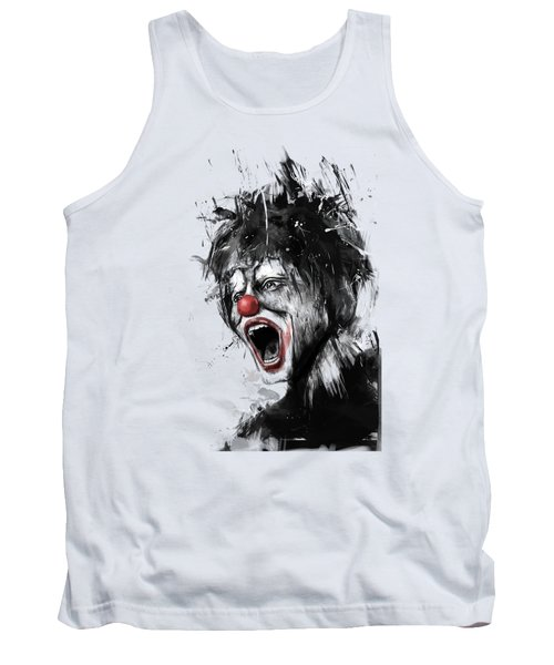 The Clown Tank Top by Balazs Solti
