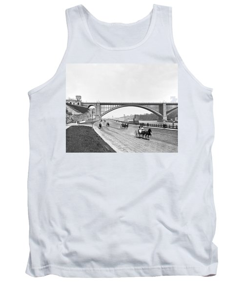 The Harlem River Speedway Tank Top by William Henry jackson