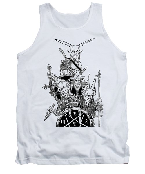 The Infernal Army White Version Tank Top by Alaric Barca