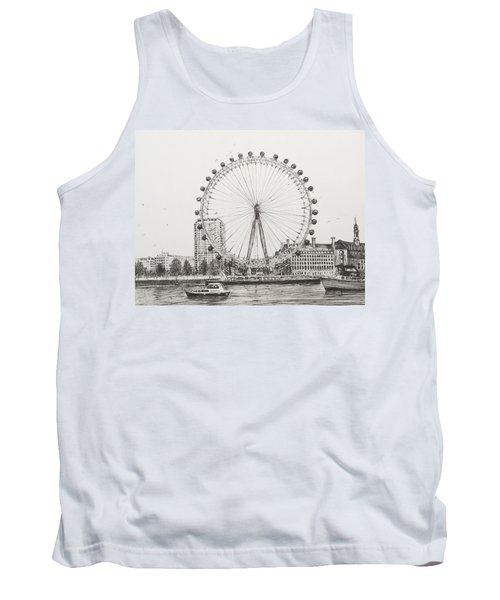 The London Eye Tank Top by Vincent Alexander Booth