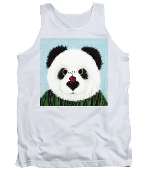 The Panda And His Visitor  Tank Top by Michelle Brenmark