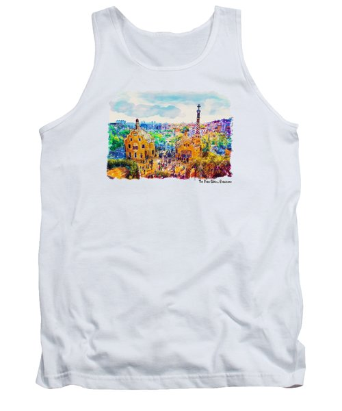 Park Guell Barcelona Tank Top by Marian Voicu